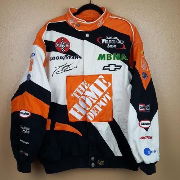b2db955b5 Tony Stewart Jackets & Coats | Nascar Home Depot Orange Jacket Xl ...